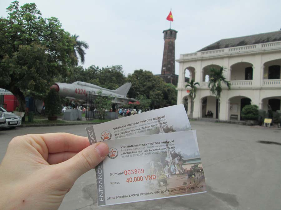 ticket hanoi war museum